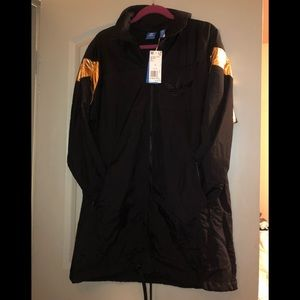 Adidas black and gold track jacket-NEW